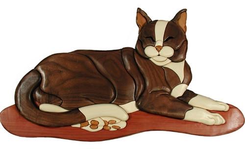 LYING CAT INTARSIA PATTERN