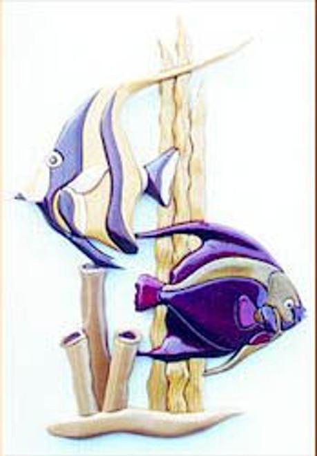 TROPICAL FISH INTARSIA PATTERN