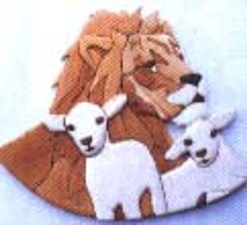LION & LAMB INTARSIA PATTERN