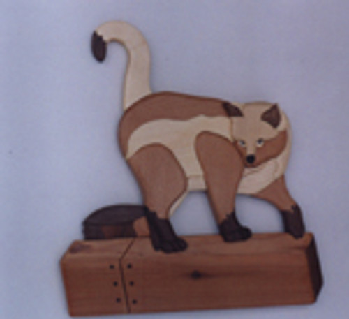 CAT ON A FENCE INTARSIA PATTERN