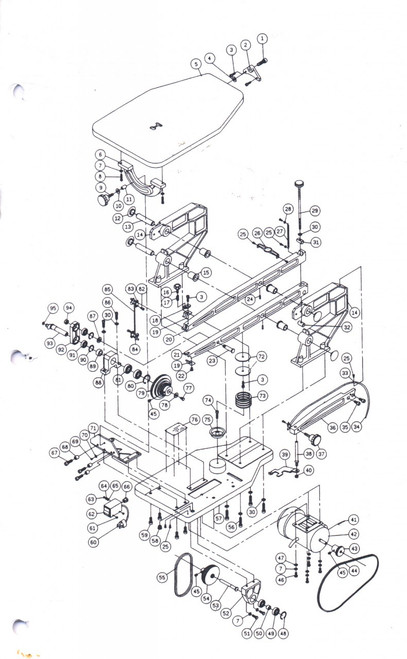 """ALL 21"""" SCROLL SAW PARTS"""