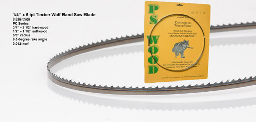 """1/4"""" x 6PC Series Timber Wolf® band saw blade"""