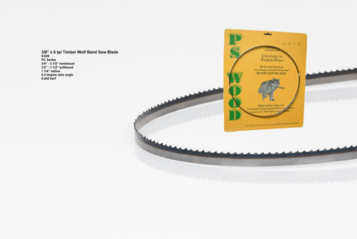 """3/8"""" x 6PC Series Timber Wolf® band saw blade"""