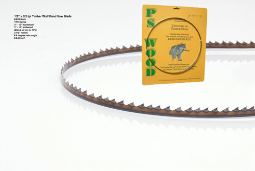 """1/2"""" x 2/3VPC Series Timber Wolf® band saw blades"""
