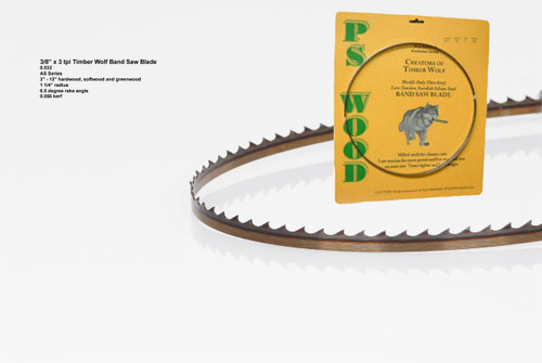 """3/8"""" x 3AS .032 thick Series Timber Wolf® band saw blade"""