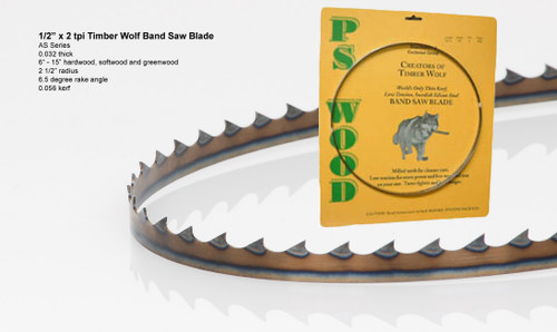 """1/2"""" x 2AS Series Timber Wolf® band saw blade"""