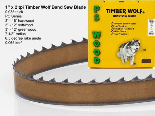 """1"""" x 2PC Series Timber Wolf® band saw blade"""