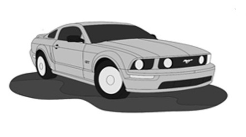 Mustang Car Intarsia Pattern
