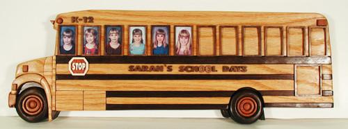 School Bus Frame Intarsia Pattern
