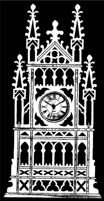 GOTHIC SHELF CLOCK PATTERN