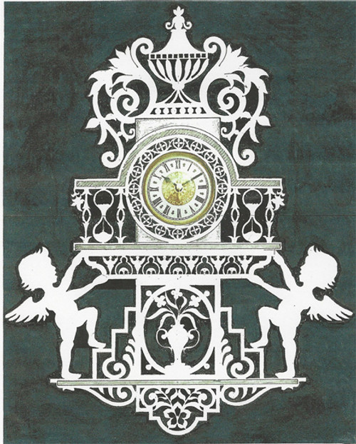 ANTIQUE WALL CLOCK with CUPIDS PATTERN