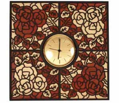 ROSE CLOCK INTARSIA PATTERN