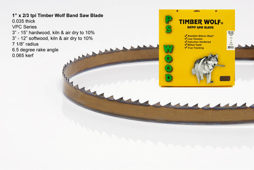 """1"""" x 2/3VPC Series Timber Wolf® band saw blade"""