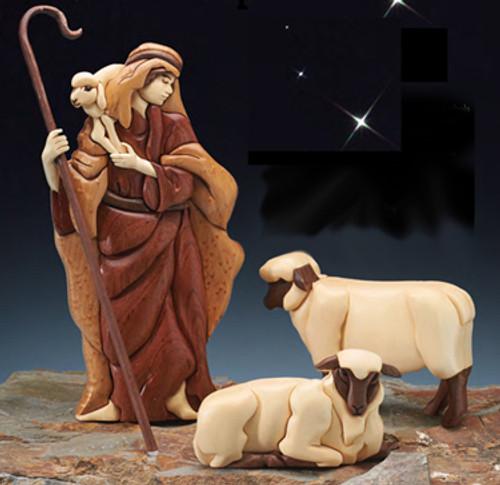 SHEPHERD & SHEEP NATIVITY Intarsia Pattern