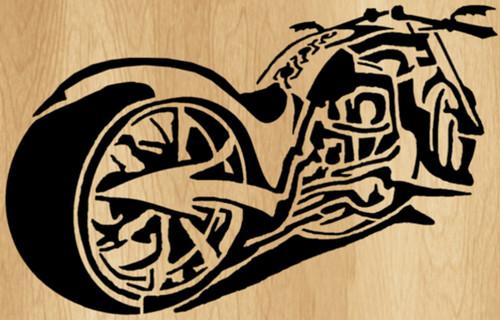 CHOPPER MOTORCYCLE PATTERN