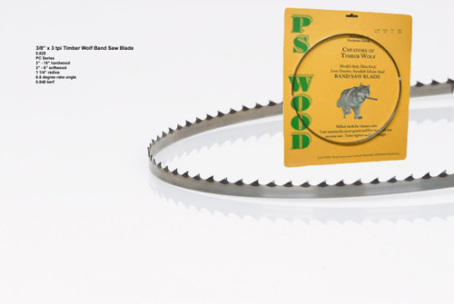 """3/8"""" x 3PC Series Timber Wolf® band saw blade"""