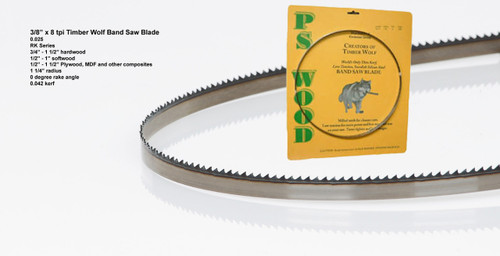 """3/8"""" x 8RK Series Timber Wolf® band saw blade"""