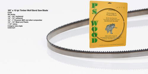 """3/8"""" x 10RK Series Timber Wolf® band saw blade"""