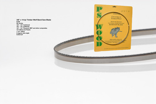 """3/8"""" x 14RK Series Timber Wolf® band saw blade"""