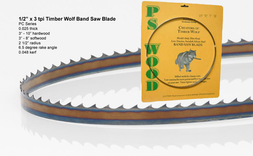 """1/2"""" x 3PC Series Timber Wolf® band saw blades"""