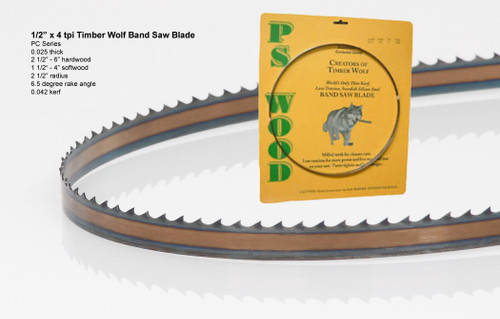 """1/2"""" x 4PC Series Timber Wolf® band saw blades"""