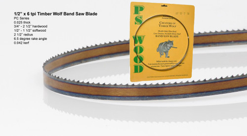 """1/2"""" x 6PC Series Timber Wolf® band saw blades"""