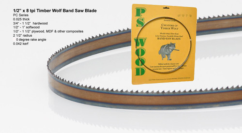 """1/2"""" x 8RK Series Timber Wolf® band saw blades"""