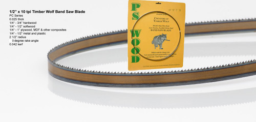 """1/2"""" x 10RK Series Timber Wolf® band saw blades"""
