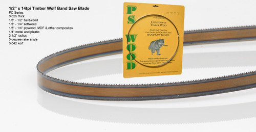 """1/2"""" x 14RK Series Timber Wolf® band saw blades"""