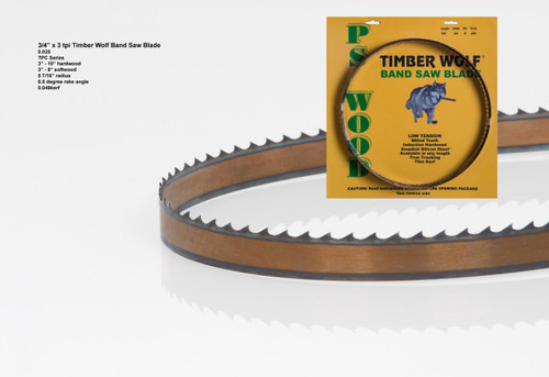 """3/4"""" x 3TPC Series Timber Wolf® band saw blades"""