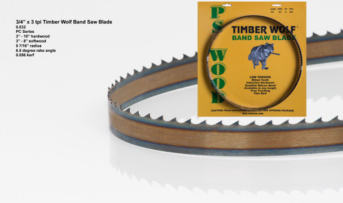"""3/4"""" x 3PC Series Timber Wolf® band saw blades"""