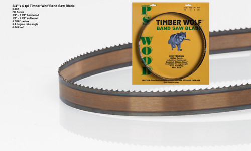 """3/4"""" x 6PC Series Timber Wolf® band saw blades"""