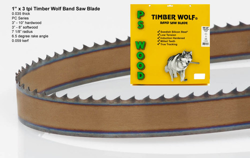 """1"""" x 3PC Series Timber Wolf® band saw blade"""