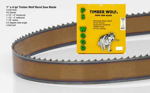 """1"""" x 4PC Series Timber Wolf® band saw blade"""