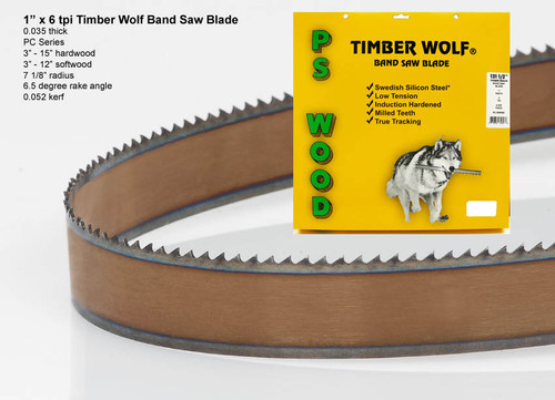 """1"""" x 6PC Series Timber Wolf® band saw blade"""