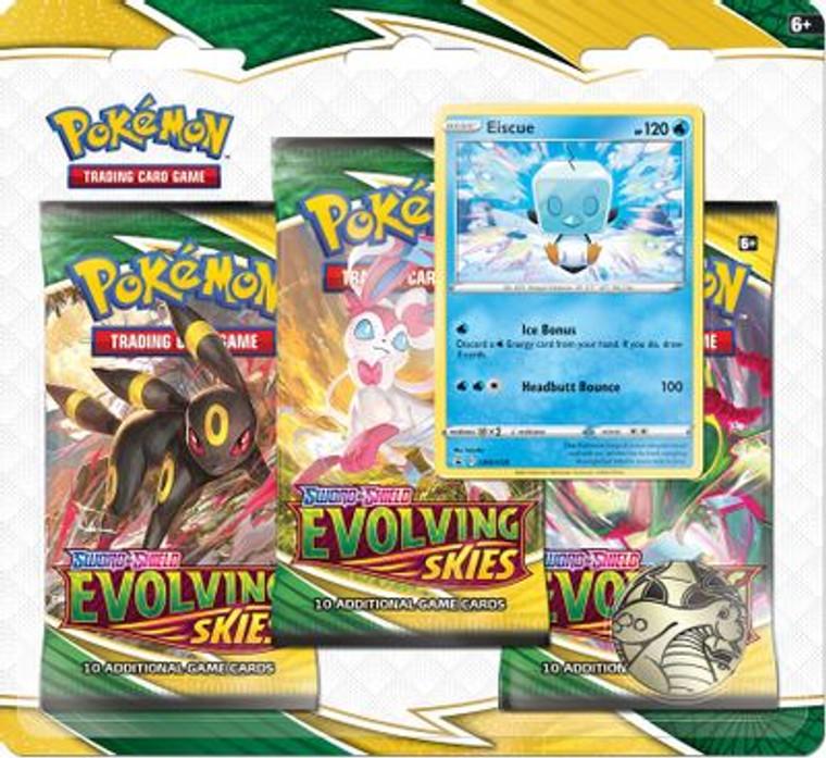 Pokemon Evolving Skies 3-Pack Blister w/Eiscue