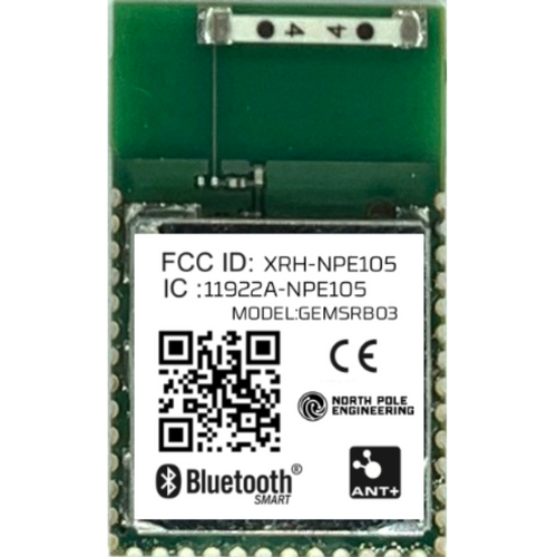 Bluetooth 5.0 and ANT+ OEM module with integrated GEMHCI software