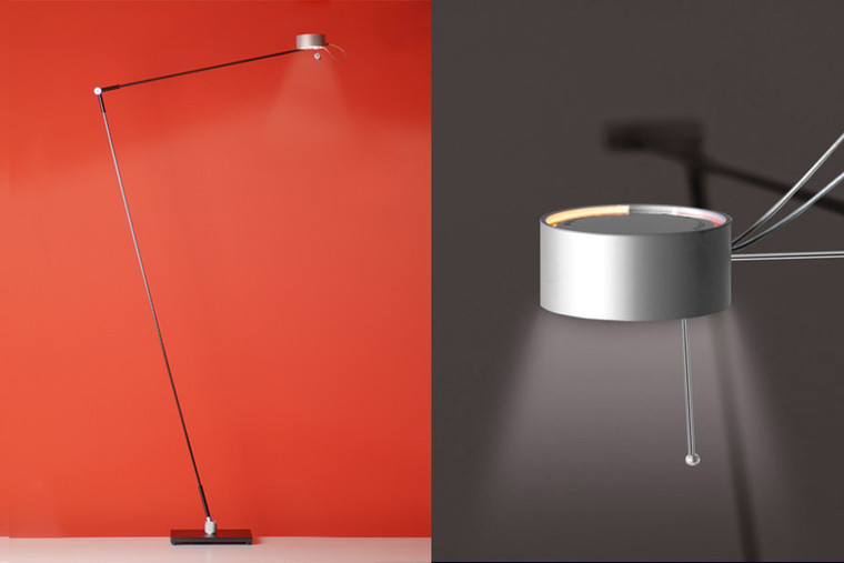 """Task Floor Lamp Dull with """"Touch-O-Matic"""""""