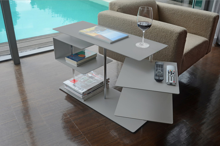 570a - Silver X-Centric 2 Side Table