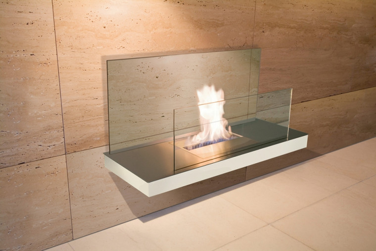 WALL FLAME II Stainless Steel Glass Clear
