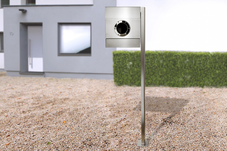 Stainless steel Letterman 2 Mailbox with Post