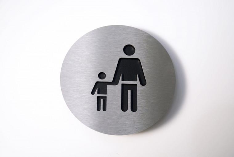 Adult/Child Pictogram in black