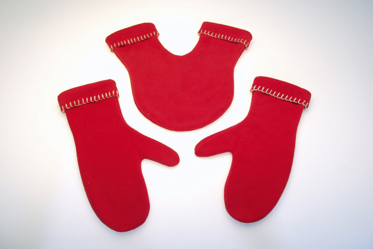Glovers red gloves