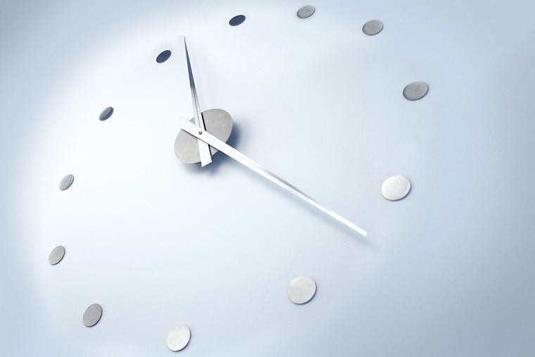 Wall Clock Stainless Steel