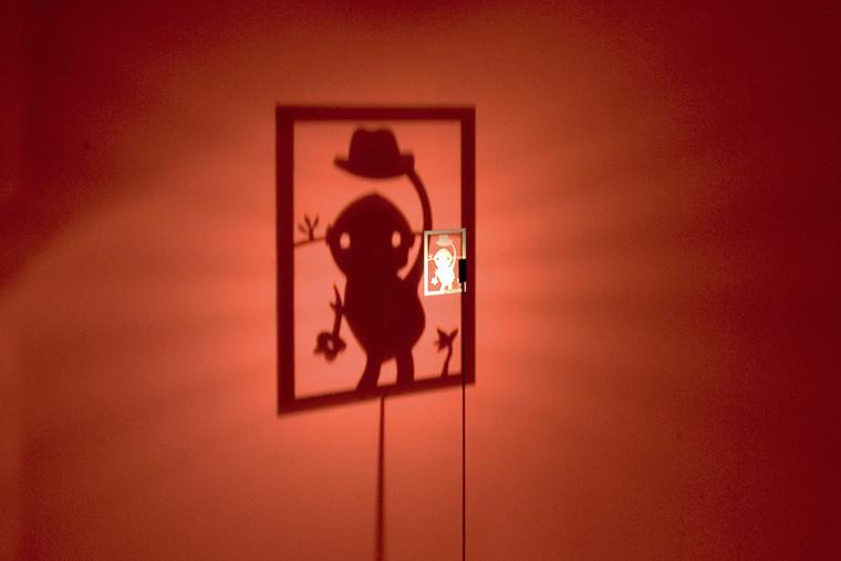 "Shining Image ""Man With Hat"" Floor Lamp"