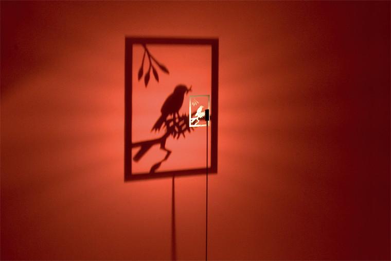 "Shining Image ""One Bird"" Floor Lamp"