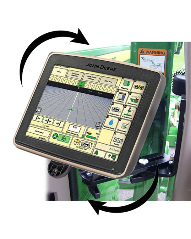 Starter Kit Packaging includes a Quick Change Bracket with screws and Allen wrench to mount to any John Deere screen.  Also included are a set of mounting studs that are attached to the cab bracket.  All hardware is included to install one screen in one piece of equipment.