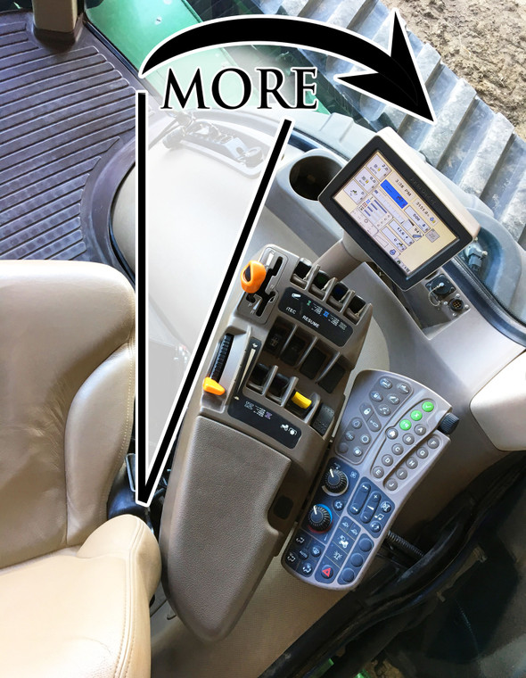 Increase the amount you can swivel in your seat to look backwards.