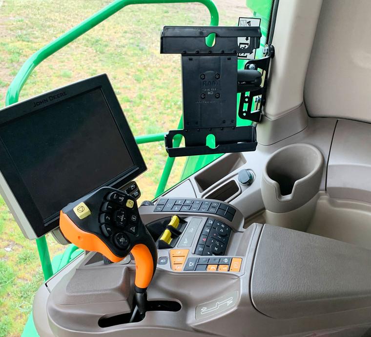 Tablet Holder for cab of John Deere Combine
