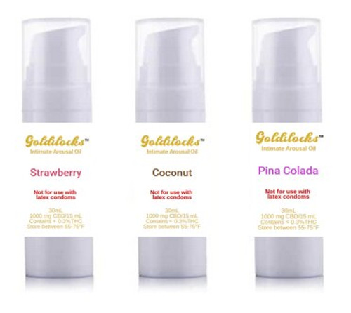 30 mL (33.3 mg/mL)  Goldilocks™ Intimate Arousal Oil 1000 mg Bottle--Over a Dozen Flavors to Chose From